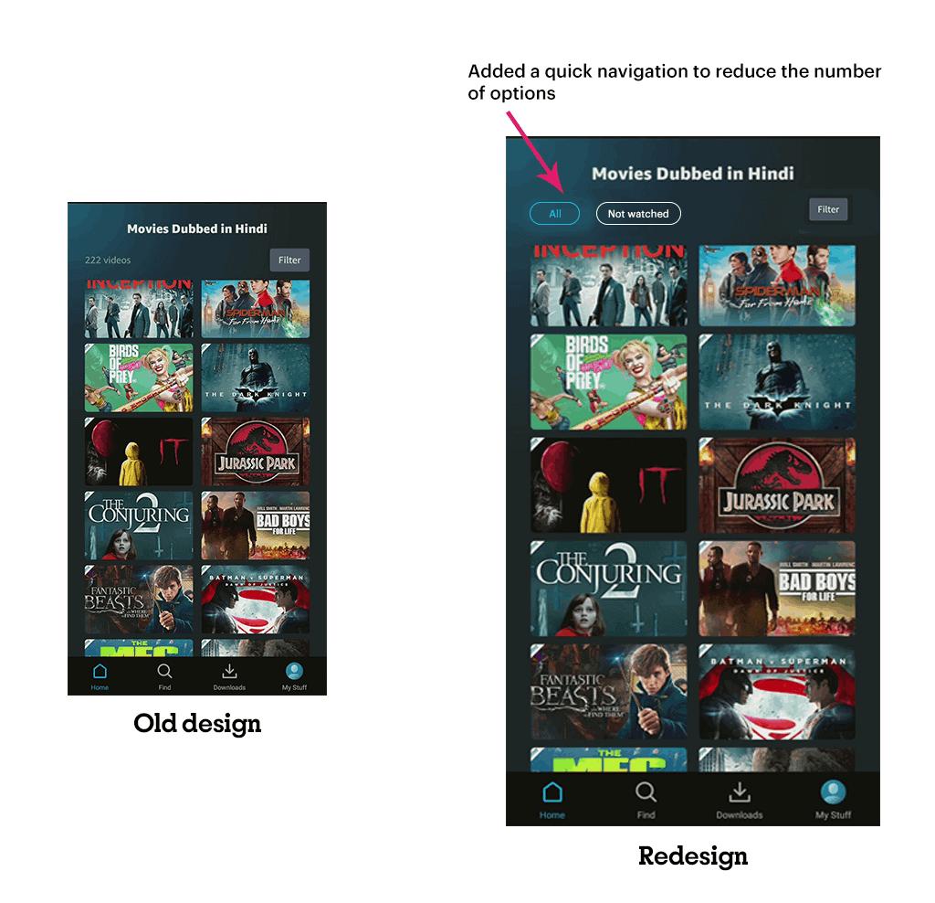 Redesign of screen added nav bar